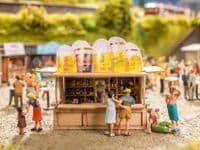 NOCH HO Scale 'At The Kiosk' Deco Scene # N12025